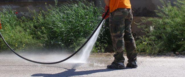 Καθαρισμός μεγάλων επιφανειών με υδροβολή